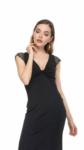 An elegant glitter knot tango dress