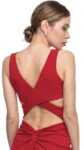 red criss cross tango top