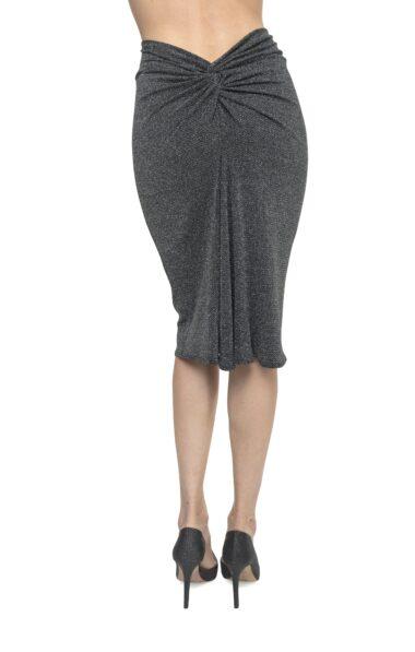 Silver lurex Argentine Tango Skirt