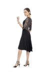 Long tulle sleeves Argentine Tango dress
