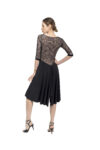 Long tulle Sleeves Tango Dress large sizes
