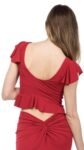 An iconic cropped reversible argentine tango top