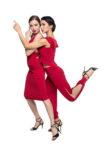 Red babucha tango pants knot tango skirt for practice