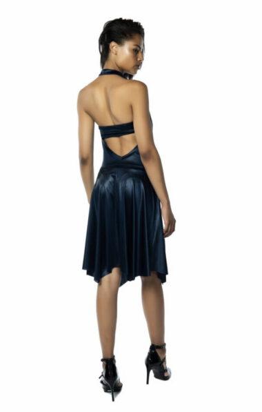 A dark blue colored Tango dress