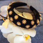 prada headband with rhinestones