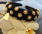 Halo matador headband wedding guest rhinestones