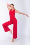 Red Tango Dance jump-suit in jersey