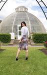 Pink floral tango skirt