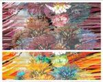 Floral mosaic tango wear prints