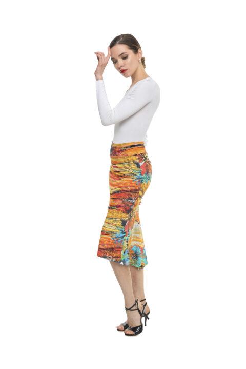 Mermaid Floral tango skirt