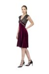 V Tango Dress in Velvet