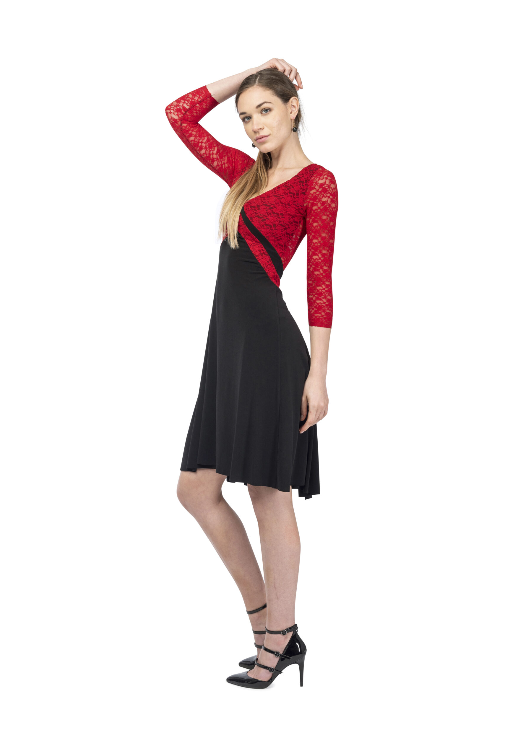 Long sleeves tango dress