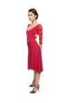 Red Ferrari tango dress with sleeves