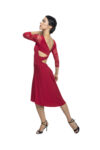 Red tango dress with sleeves