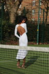 wedding tango dress in white jersey