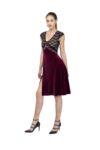 V Tango Dress in Velvet