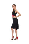 Black & Red Fishtail tango Dress