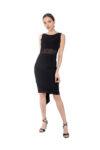 Black Fishtail tango Dress