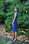DESK TO MILONGA DRESS NAVY BLUE