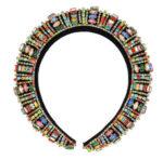 Multi coloured crystals rhinestones halo headband