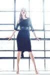 Glitter tulle tango dress black