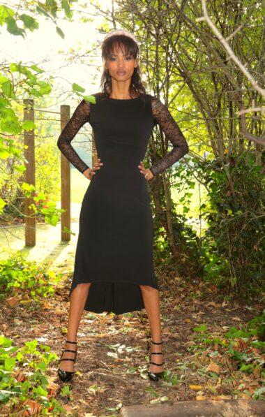 A woman in a black Tango apparel