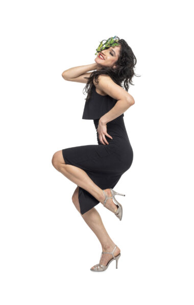 A stunning black london tango dress