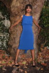 A stunning blue fishtail skirt and simple top set