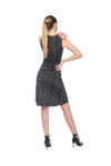 A spotted shirred front tango dress