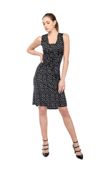 Polka dots tango dress