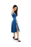 Bright blue tango dress